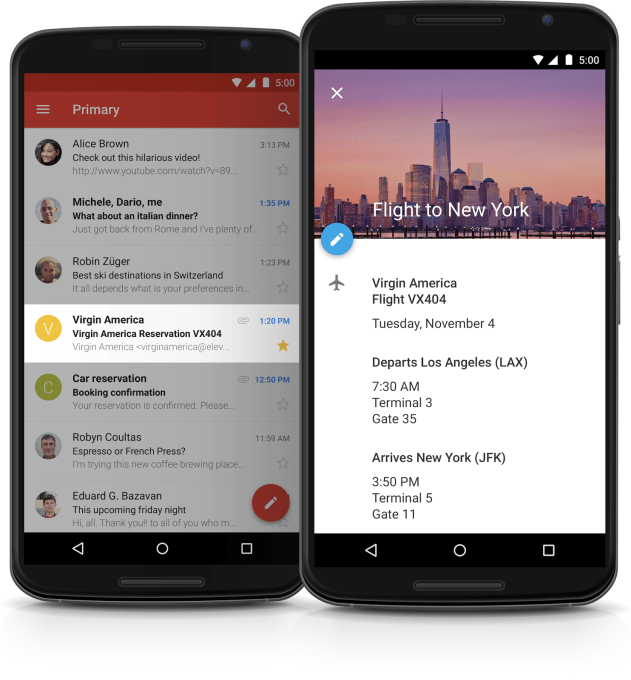 Gmail and Calendar Integration