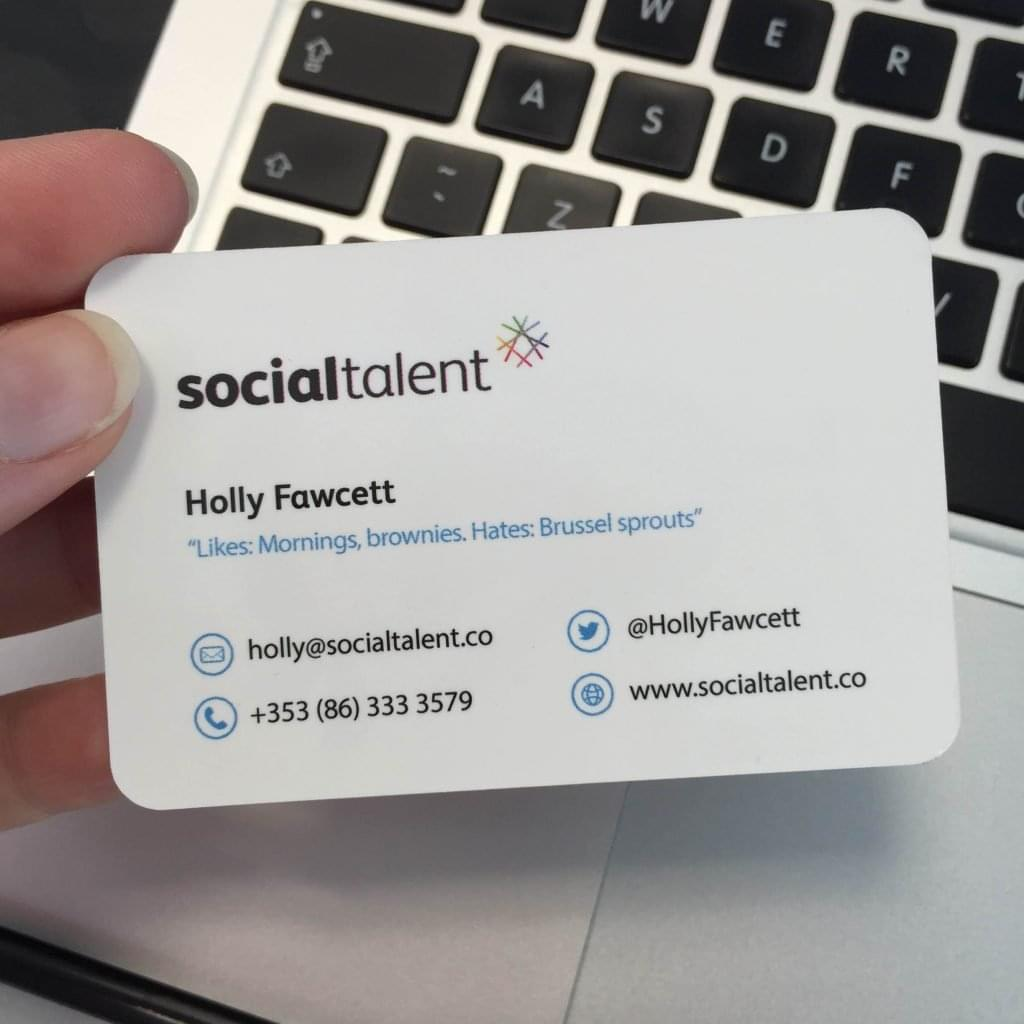 My Social Talent business card