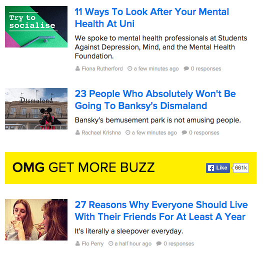 Buzzfeed.com are BIG fans of listogram blog titles!
