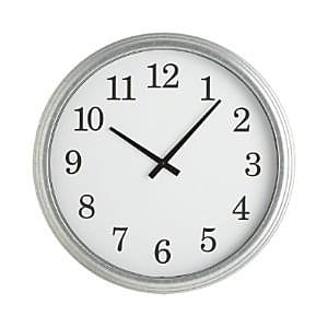 galvanized-wall-clock