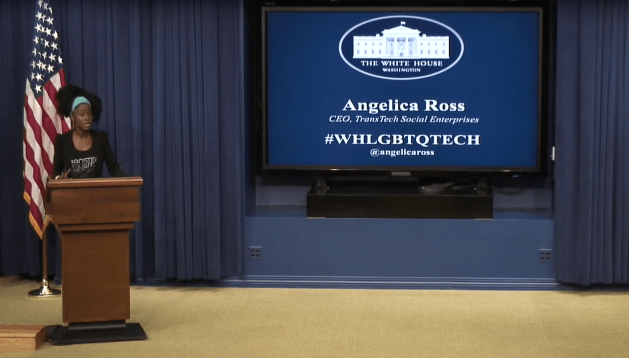 Angelica Ross at the White House