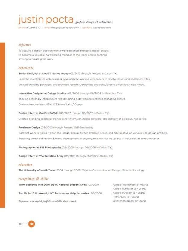 beautiful resume designs