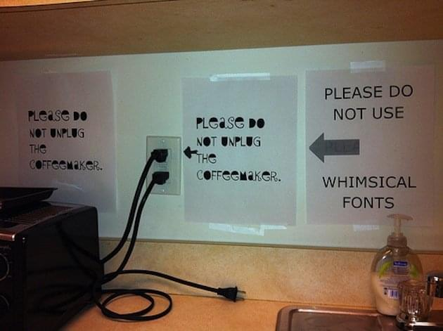 Passive Aggressive Office Notes