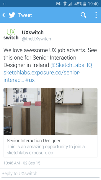 responding to job advertisements