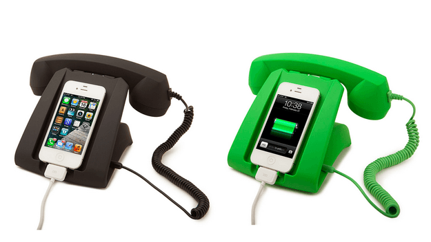 1 a charging dock that turns your iphone into a phone phone
