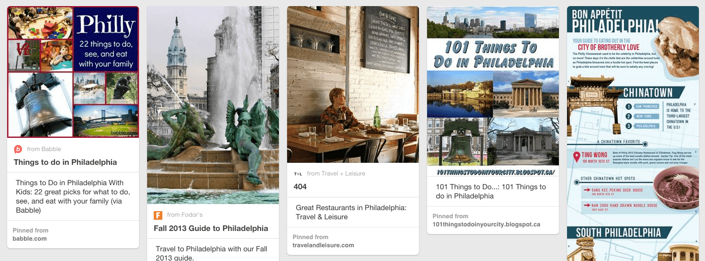 Visting Philadelphia - CHOP Pinterest Careers Board