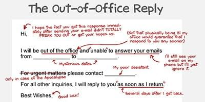 7 refreshingly unique out of office emails recruiters can use to stand out - Out of the office message ...