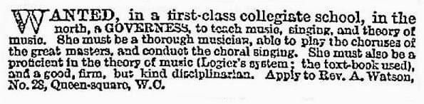 Colligiate School - Vintage Job Ads