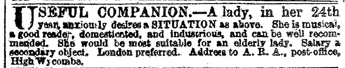 Companion - Vintage Job Ads