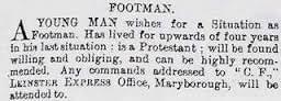Footman - Vintage Job Ads