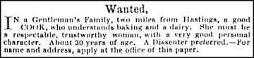 Hastings - Vintage Job Ads