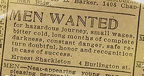 Hazardous Journey - Vintage Job Ads
