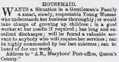 Housemaid - Vintage Job Ads