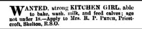 KItchen Girl - Vintage Job Ads