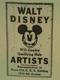 Male Artists - Vintage Job Ads