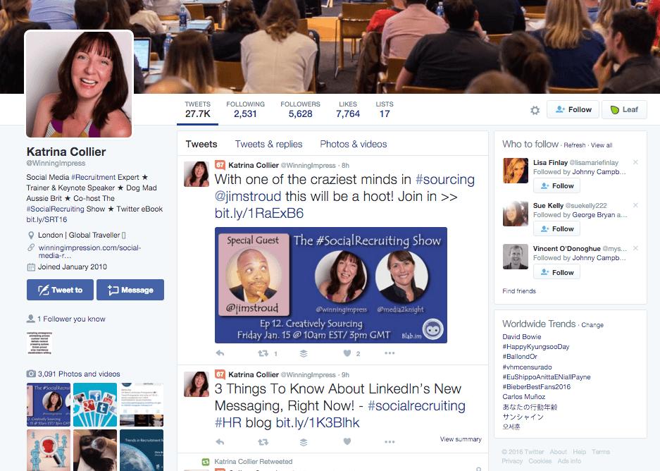 Katrina Collier Twitter