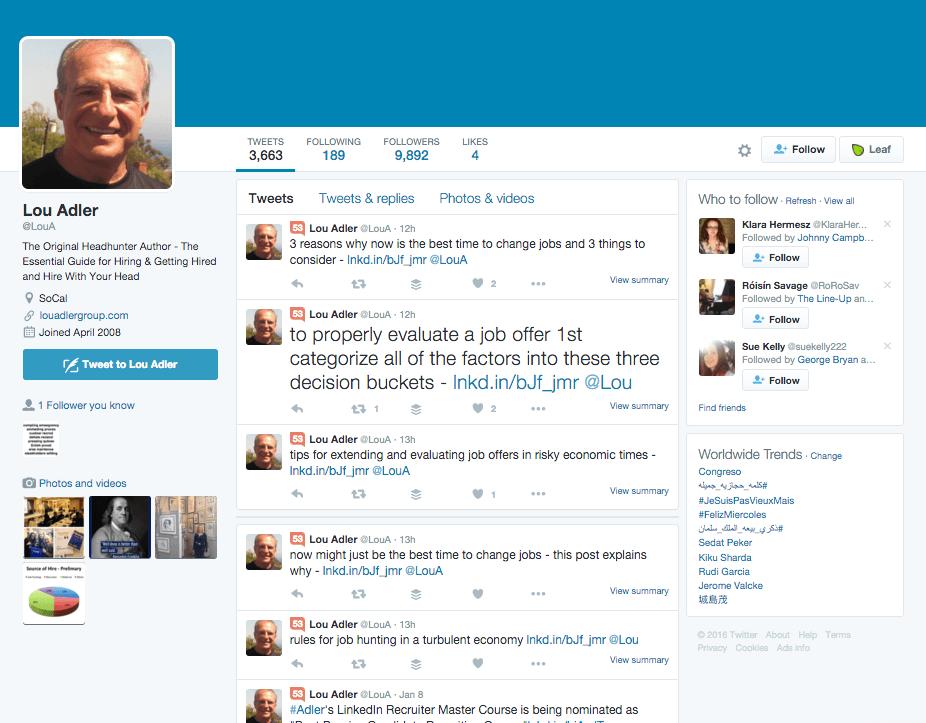 Lou Adler Twitter