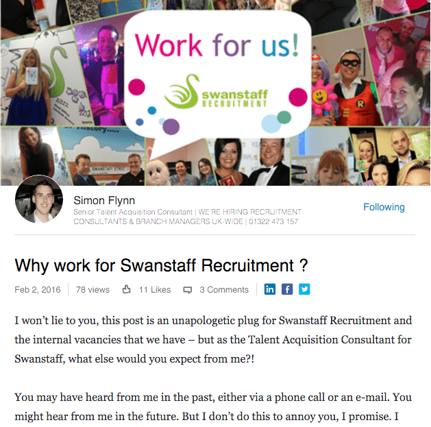 Why work for Swanstaff Recruitment?