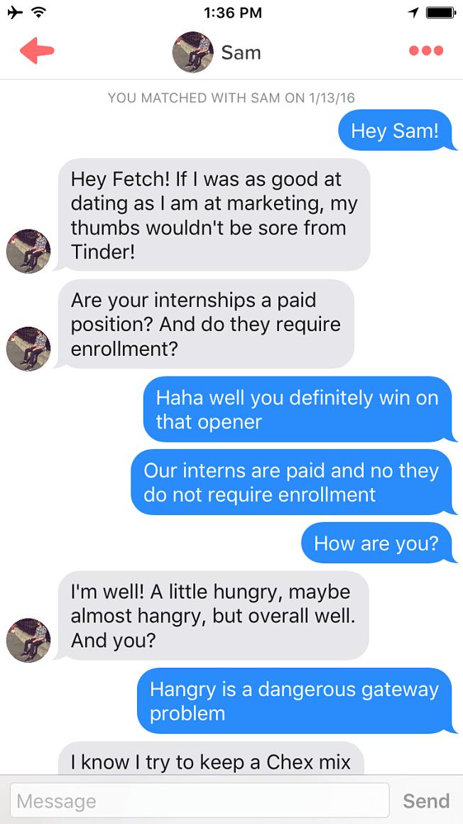 Sam Weidt Tinder Job