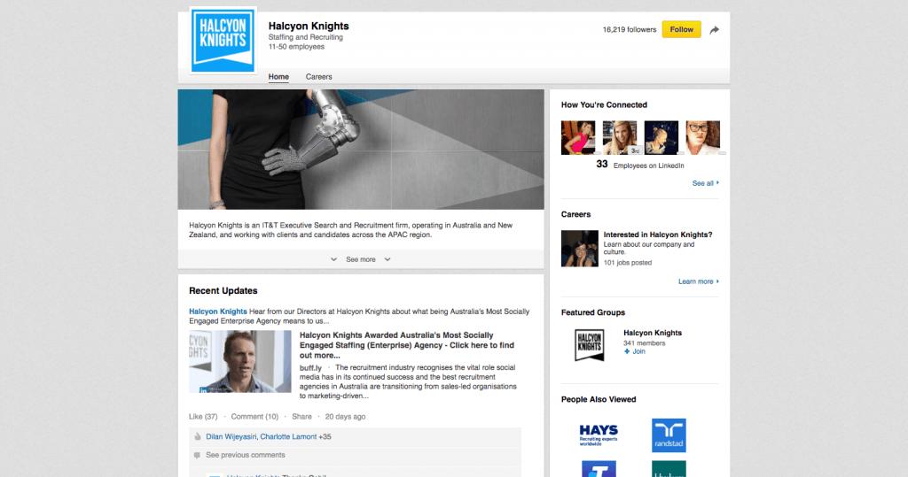 Halcyon Knights LinkedIn