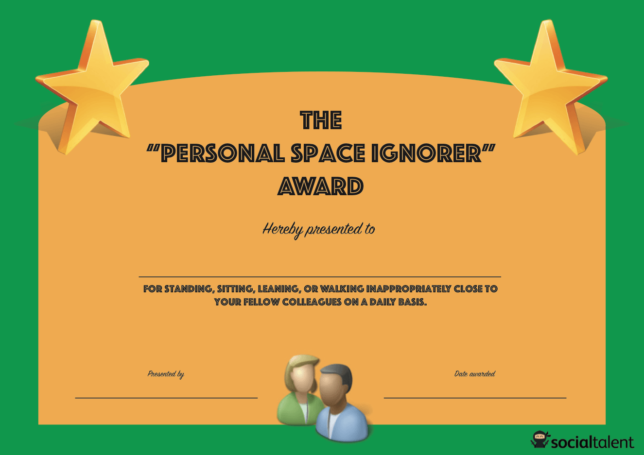 download the personal space ignorer award