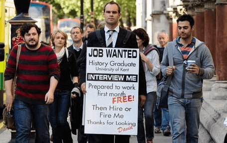 Sandwich Board Job Seeker