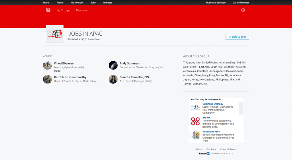 Jobs in APAC