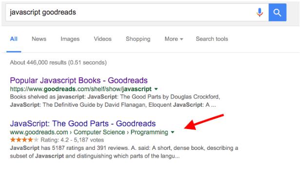 javascript goodreads