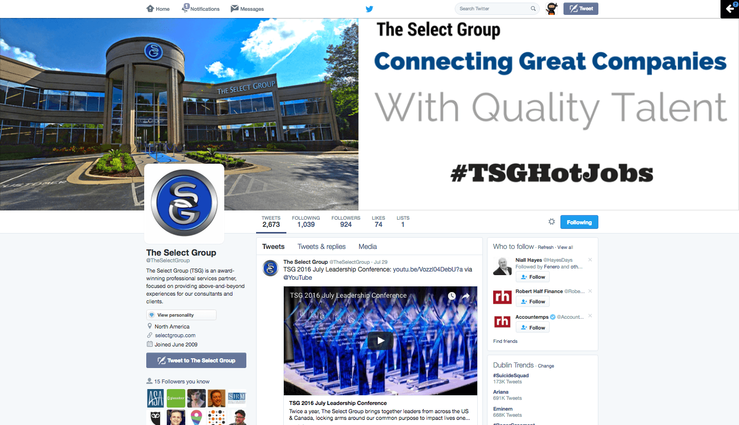 The Select Group Twitter