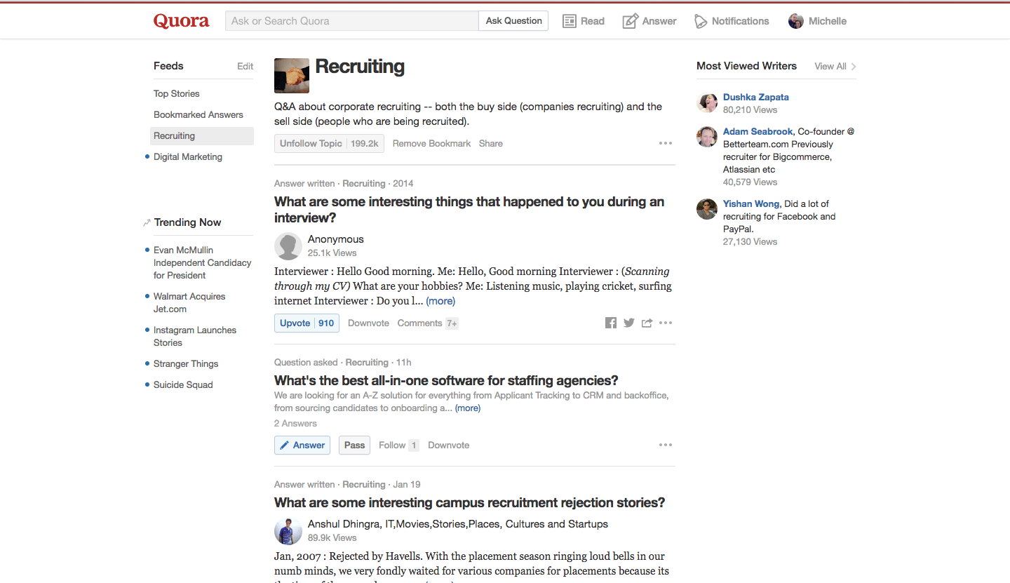 top recruitment forums to the answers to your burning quora