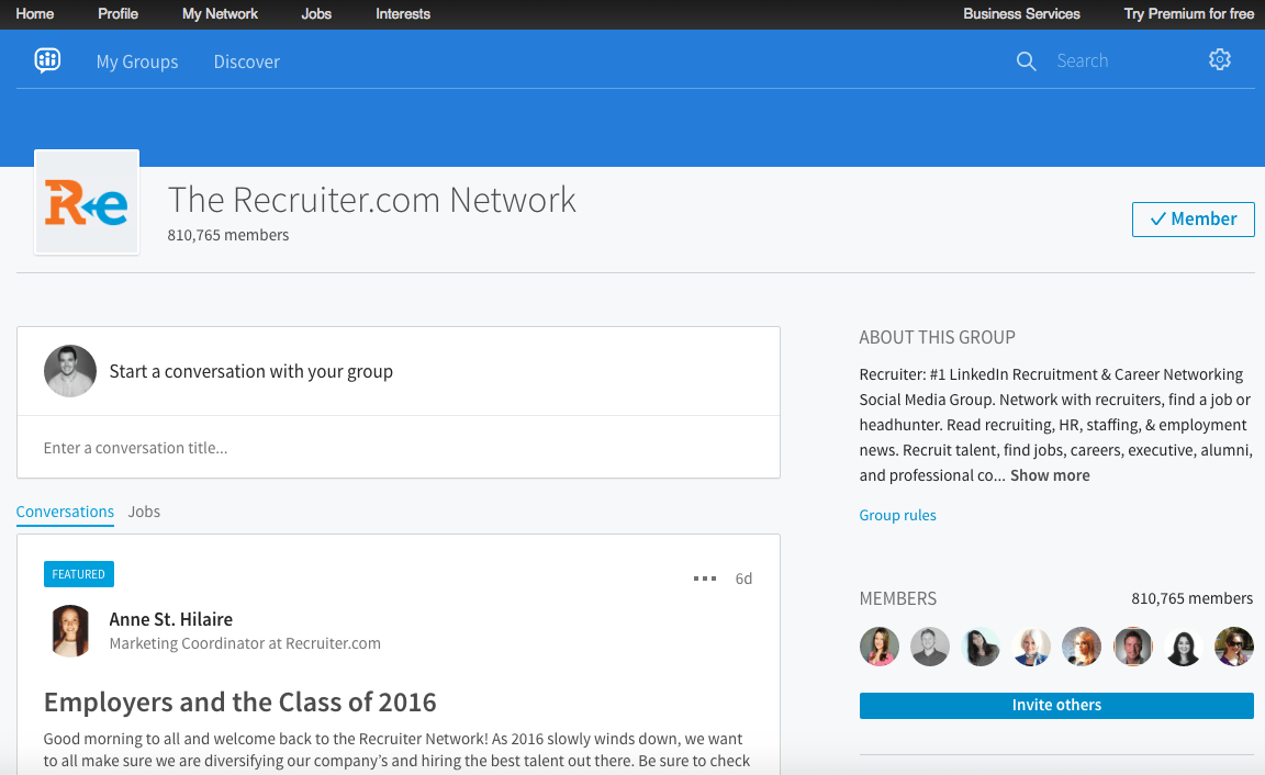 recruiter-network-linkedin-group