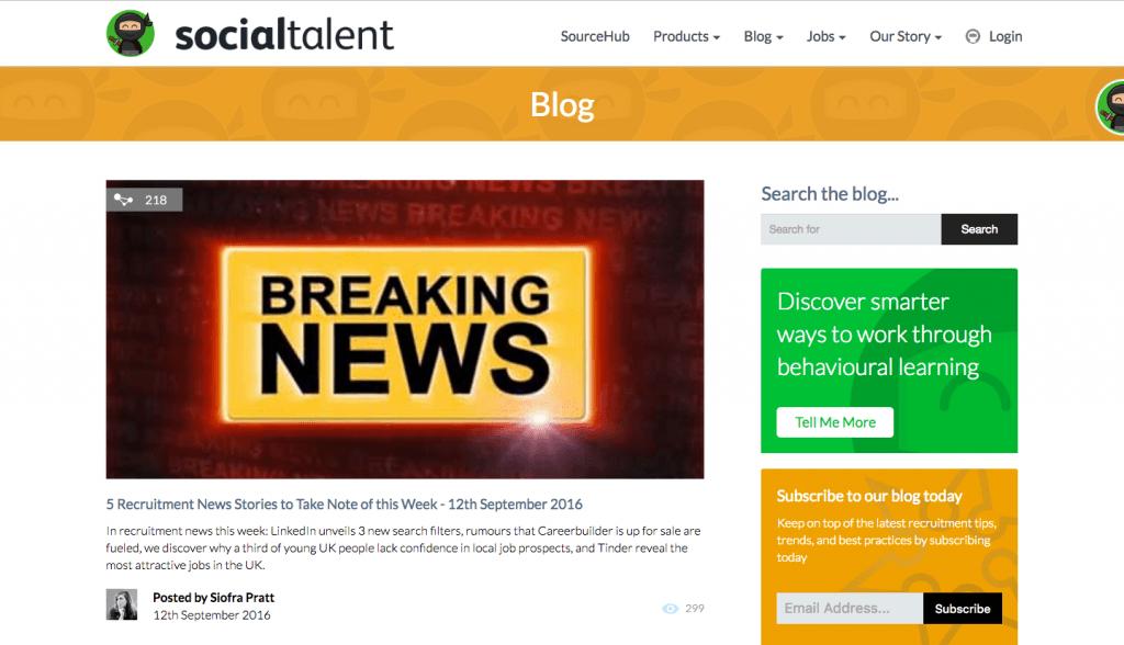 Social Talent blog