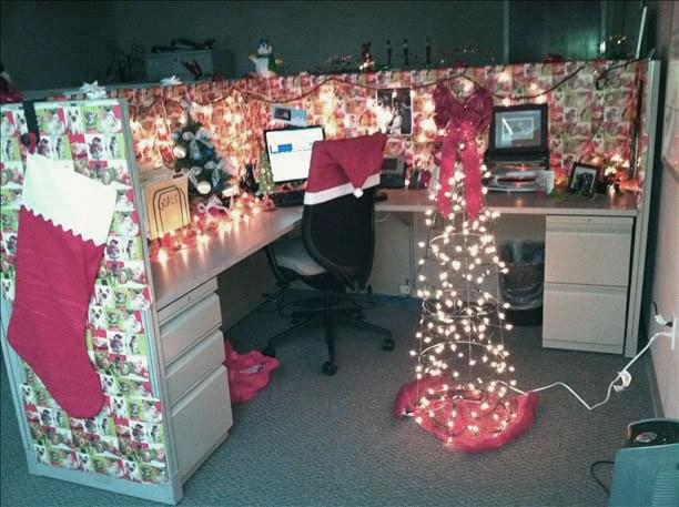 Christmas Decoration Office Ideas. Christmas Decorations Awesome Design