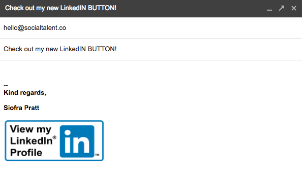 How To Add A Linkedin Button To Your Gmail Signature