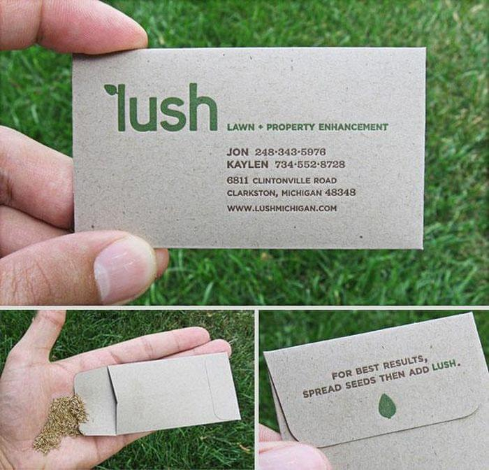 12 amazing business cards that get the job done socialtalent 3 lush practice what you preach and reap the benefits reheart Choice Image