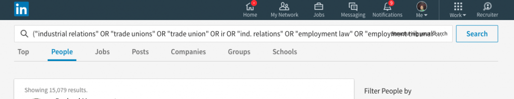 New LinkedIn ui using field commands