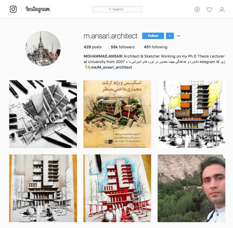 Mohammad Ansari's Instagram Page