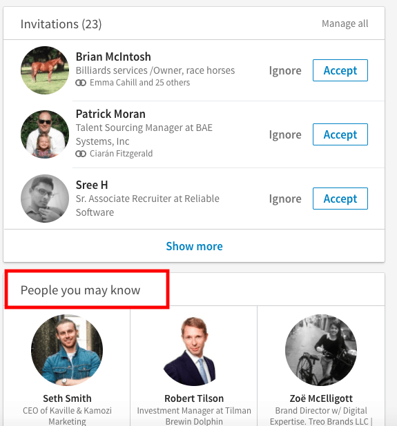 people you may know- linkedin
