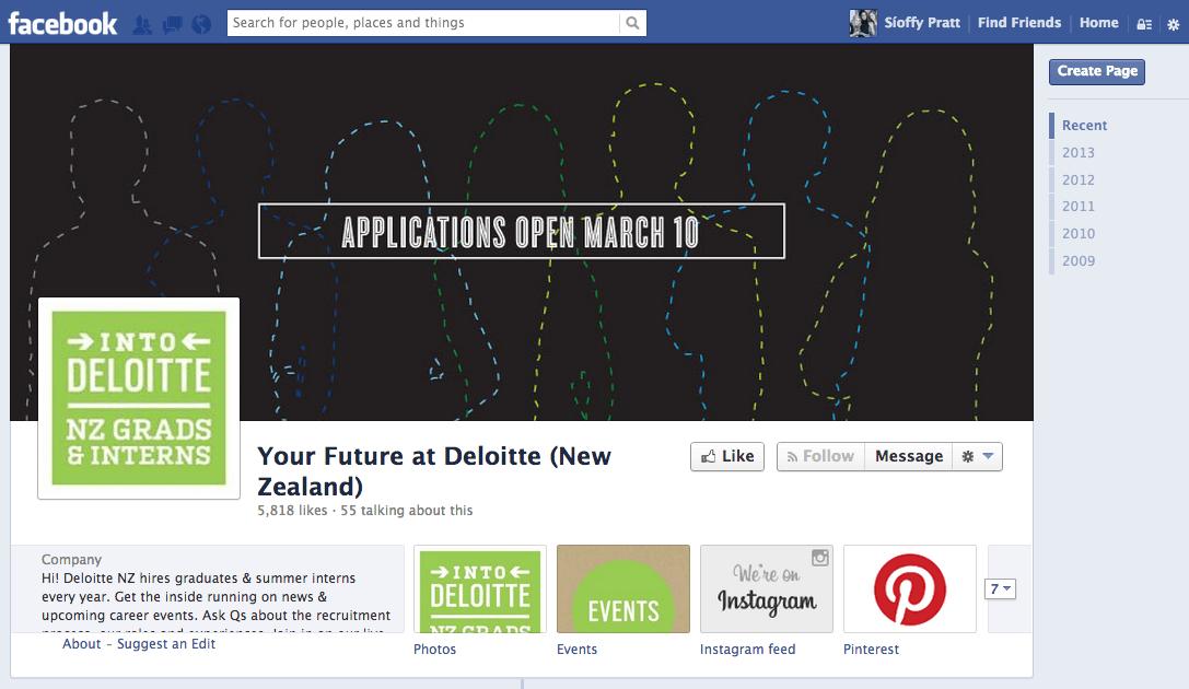 Deloitte NZ Graduate Facebook