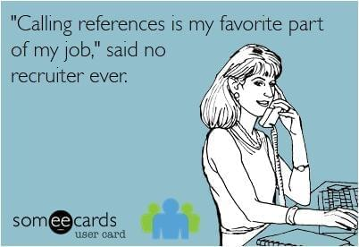 Calling References | Recruitment Meme