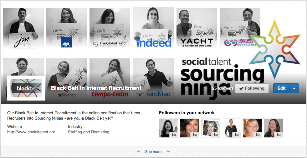 Black Belt in Internet Recruitment Showcase Page on LinkedIn