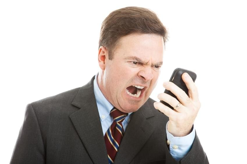 Recruiter: On the phone | Shouting at phone